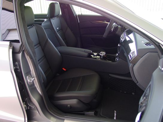 2012 Mercedes-Benz CLS63 Platinum Silver / Black